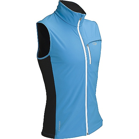 Free Shipping. Icebreaker Men's Blast Vest DECENT FEATURES of the Icebreaker Men's Blast Vest 39% merino / 45% nylon / 16% spandex - side and back panels, 100% polyester face / 100% merino back - softshell Zipped chest pocket with reflective piping for visibility Gusseted side panels for ease of movement Back vent for breathability Drawcord adjustable hem - $199.95