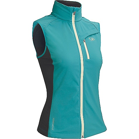 Free Shipping. Icebreaker Women's Gust Vest DECENT FEATURES of the Icebreaker Women's Gust Vest 39% merino / 45% nylon / 16% spandex (panels) 100% polyester / 100% merino back (softshell) Zipped chest pocket with reflective piping for visibility Interior stash pocket with media cord port Gusseted side panels for ease of movement Drawcord adjustable, drop tail hem prevents drafts - $199.95
