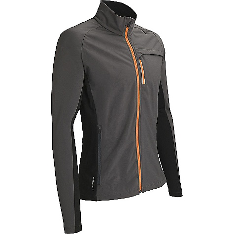 Free Shipping. Icebreaker Men's Blast LS Zip Top DECENT FEATURES of the Icebreaker Men's Blast Long Sleeve Zip Top 39% merino / 45% nylon / 16% spandex - side and back panels, 100% polyester face / 100% merino back - softshell Zipped chest pocket with reflective piping for visibility Back vent for breathability Gusseted side panels Drawcord adjustable, drop tail hem prevents drafts Zipped, venting eyelet mesh hand pockets Water resistant front zipper - $249.95