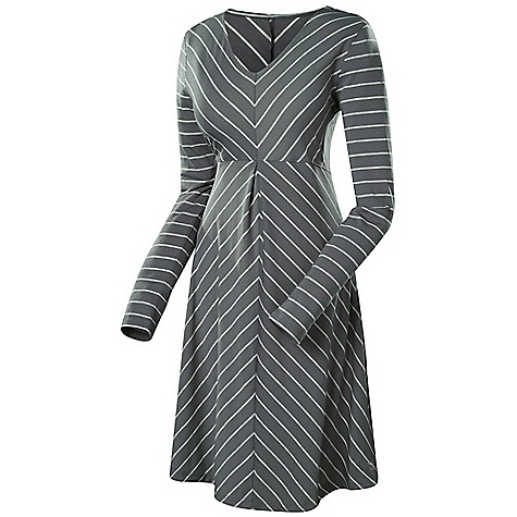 Entertainment Free Shipping. Isis Women's Fundamental Dress DECENT FEATURES of the Isis Women's Fundamental Dress Stylish stripe print is available in Jet Stripe, Ocean Stripe, and Black Wicking DriRelease fabric Invisible zip security pocket at hem The SPECS Fabric: DriRelease - 5 oz 83% polyester, 11% Tencel, 6% Spandex Body Length: 37in. - $128.95