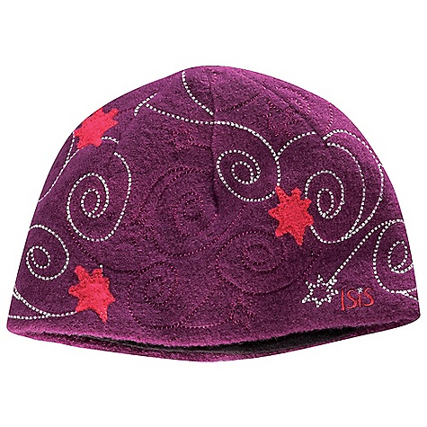 Entertainment Isis Women's Northern Lights Hat DECENT FEATURES of the Isis Women's Northern Lights Hat Fine guage knit Versitle, fun striped design Microfleece lining Emboidery Applique The SPECS Fabric: 100% boiled wool yarn Lining: 100% polyester microfleece - $44.95