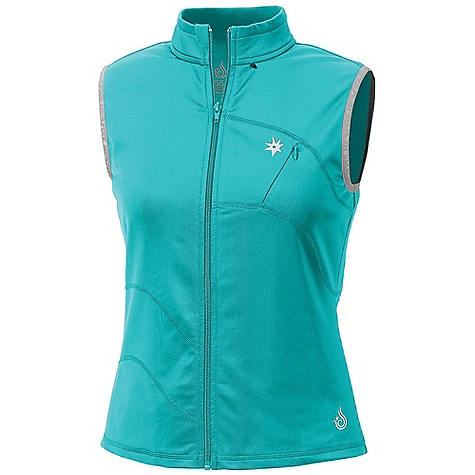 Free Shipping. Isis Women's PDQ Vest DECENT FEATURES of the Isis Women's PDQ Vest Evaporator Technology Brushed interior Double-sided anti-pill fabric Breathable Flat lock seams Reflective ISIS stars and logo 2in. stand up collar Chin guard Invisible zip chest security pocket The SPECS Body Length: 26in. Fabric: PDQ Fleece - 7.8 oz 89% polyester, 11% spandex with Evaporator Technology - $98.95