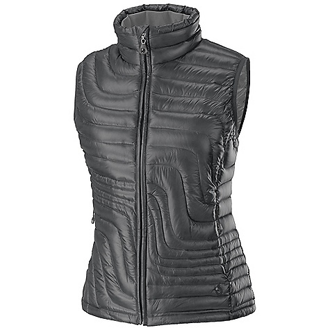 On Sale. Free Shipping. Isis Women's Slipstream Vest DECENT FEATURES of the Isis Women's Slipstream Vest Velvet lined collar Zipper garage Reverse coil front zip with no-snag draft flap Invisible zip hand pockets Internal mesh zip security pocket with snowflake earphone portal Lycra cuffs Drawcord hem The SPECS Body Length: 26in. Fabric: 1.3 oz 100% polyester, anti-static with DWR Lining: 2.0 oz yd2 100% downproof polyester Insulation: 800 fill power down - $126.99