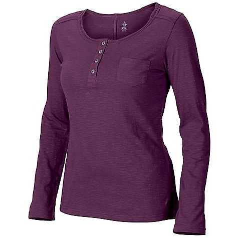 Isis Women's Dream Placket Tee DECENT FEATURES of the Isis Women's Dream Placket Tee Raw edge trim at neckline Double-needle stitching Full length sleeves with 3/4 button tab adjustment Faux shell buttons The SPECS Fabric: 4.7 oz cotton slub Body Length: 26in. - $44.95