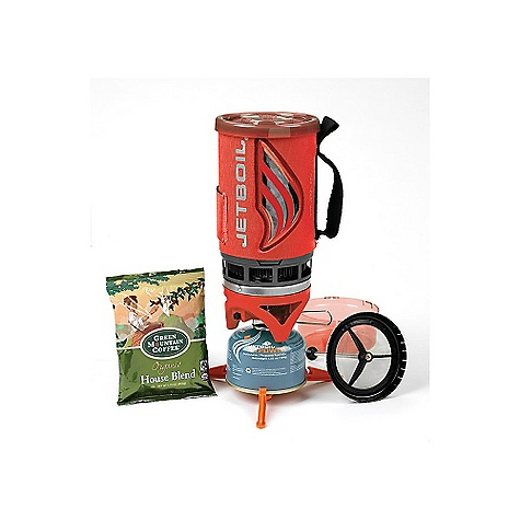 Free Shipping. Jetboil Flash Java Kit DECENT FEATURES of the Jetboil Flash Java Kit 1.0 Liter FluxRing cooking cup with insulating cozy Adjustable burner with push-button igniter Insulating drink-through lid bottom cover Jetboil Coffee Press Tripod base for added stability Coffee sample pack The SPECS Weight: 15.8 oz / 448 g Volume: 32 oz / 1 Liter Boil Time: 16 oz / 1/2 Liters = 2 minutes 30 sec. avg. over the life of Jetpower Can Water Boiled: 12 Liters per 100g Jetpower canister - $99.95