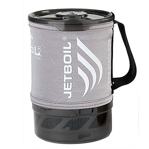 "Free Shipping. Jetboil Sol FluxRing Titanium Companion Cup DECENT FEATURES of the Jetboil Sol FluxRing Titanium Companion Cup 0.8 Liter Sol Titanium FluxRing cooking cup Insulating neoprene Cargo Cozy with secure hypalon handle Drink-through lid with pour spout & strainer Bottom cover doubles as a measuring cup and bowl Capacity to pack Sol and Zip burner base with one 100 gm Jetpower fuel canister. Compatible with Jetboil Sol, Zip, Flash, PCS, GCS and Sumo systems Companion cups are compatible with Jetboil systems only. Do not use with other heat sources, as it will void the warranty The SPECS Weight: 6.4 oz (185 g) Volume: 27 oz (0.8 Liter) Dimensions: 4.1"" x 6.5"" (104 mm x 165 mm) - $89.95"