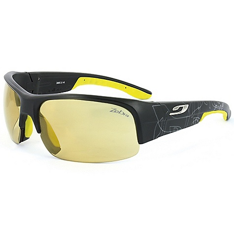 Entertainment Free Shipping. Julbo Contest Sunglasses DECENT FEATURES of the Julbo Contest Sunglasses Panoramic: Wide lens surface for broad vision spectrum Grip Nose: Supple, shock absorbent insert the adheres to nose Curved, Wrapping Temples: Temples shaped and cut for better hold with sharp and repeated movements Sipe Grip Tech: Supple, sculpted inserts at the stem ends for excellent hold without sticking to hair The SPECS Lens Width: 70 mm Nose Width: 10 mm Stem Length: 125 mm - $159.95