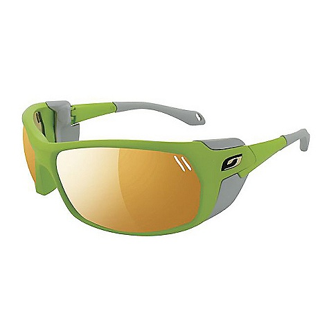 Entertainment Free Shipping. Julbo Bivouak Sunglasses DECENT FEATURES of the Julbo Bivouak Sunglasses Total Cover Shape: Maximum protection in extreme conditions against harsh sunlight Magnetic Shields: Can be removed and repositioned in the blink of an eye for perfect adaptation of sunglasses to environment 360deg Adjustable Temples: Stem ends bend in every direction, easy to wear and good hold when worn with helmet, beanie or simply alone Grip Tech: Soft comfort exclusive material on the temples that doesn't stick to hair, giving perfect hold and comfort Front Venting: Natural front air flow thanks to the lens shape or mounting structure Adjustable Cord The SPECS Lens Width: 66 mm Nose Width: 19 mm Stem Length: 115 mm - $119.95