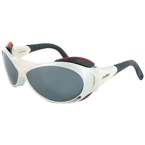 Entertainment Free Shipping. Julbo Explorer XL Sunglasses DECENT FEATURES of the Julbo Explorer Extra Large Sunglasses Total Cover Shape: Maximum protection in extreme conditions against harsh sunlight Removable Side Shields: Lateral protection against harsh sunlight 360deg Adjustable Temples: Stem ends bend in every direction, easy to wear and good hold when worn with helmet, beanie or simply alone Grip Tech: Soft comfort exclusive material on the temples that doesn't stick to hair, giving perfect hold and comfort Front Venting: Natural front air flow thanks to the lens shape or mounting structure Adjustable Cord The SPECS Lens Width: 63 mm Nose Width: 11 mm Stem Length: 135 mm - $119.95