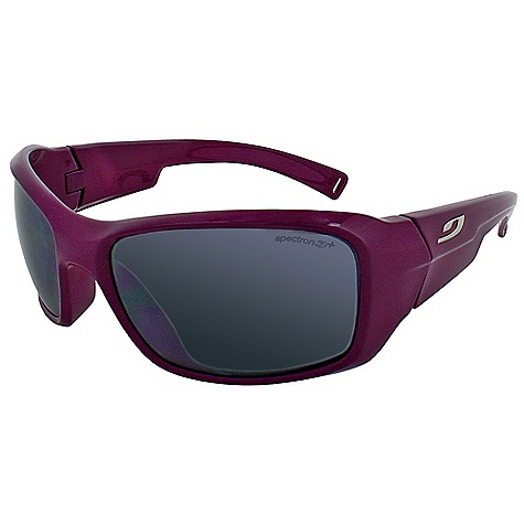 Entertainment Julbo Kids' Rookie Sunglasses DECENT FEATURES of the Julbo Kids' Rookie Sunglasses Wrap-Around: Wrap around shape for a good vision spectrum and protection Curved Wrapping Temples: Temples shaped and cut for better hold with sharp and repeated movements The SPECS Lens Width: 57 mm Nose Width: 17 mm Stem Length: 120 mm - $39.95