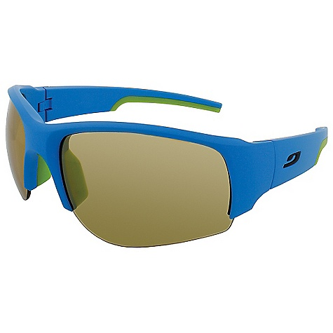 Entertainment Free Shipping. Julbo Dust Sunglasses DECENT FEATURES of the Julbo Dust Sunglasses Panoramic: Wide lens surface for broad vision spectrum Curved, Wrapping Temples: Temples shaped and cut for better hold with sharp and repeated movements Grip Nose: Supple, shock absorbent insert the adheres to nose Grip Tech: Soft comfort exclusive material on the temples that doesn't stick to hair, giving perfect hold and comfort Full Venting: Aerated structure that allows complete air circulation to avoid fog The SPECS Lens Width: 66 mm Nose Width: 17 mm Stem Length: 120 mm - $89.95