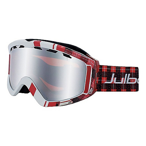 Ski Free Shipping. Julbo Down Goggles DECENT FEATURES of the Julbo Down Goggles Mirror cylindrical Spectron double lens Ventilated lens Air flow Anatomic frame Dual Soft Foam Axis strap Full silicone strap Easy clip - $99.95