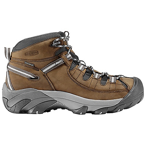 Camp and Hike The Keen Men's Targhee II Mid Waterproof Shoe is a hiking boot with ankle support for unpredictable terrain. When you start your hiking trip, the path you embark upon often doesn't look quite as neat and packed in the middle as it does at the beginning or end. The aggressive, rubber Outsole underfoot will help you through these troubled times, as will the mid-height Upper of leather and textile. Hidden inside is a KEEN. DRY; waterproof/breathable membrane, so feet stay dry through unexpected rain, Snow, and trampling across shallow creeks. Durable and ready to help you out on the trails, this 17.4 ounce shoe is ready for fun in nature. Features of the Keen Men's Targhee II Mid Waterproof Shoe Waterproof nubuck leather Upper Keen dry waterproof, breathable membrane Removable metatomical Dual Density EVA Footbed Torsion stability ESS shank S3 heel support structure Dual Density compression molded EVA Midsole 4mm multi-directional lugs Non-marking rubber Outsole - $134.95