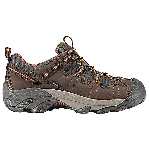 Camp and Hike Free Shipping. Keen Men's Targhee II Shoe DECENT FEATURES of the Keen Men's Targhee II Shoe Waterproof Nubuck Leather Upper Keen.Dry Waterproof Breathable Membrane Removable Metatomical Dual Density Eva Footbed Torsion Stability ESS Shank S3 Heel Support Structure Dual Density Compression Molded Eva Midsole 4mm Multi-Directional Lugs Non-Marking Rubber Outsole The SPECS Weight: 16 oz / 454 g Upper: Leather With Synthetic Webbing/Textile Lining: Moisture Wicking Textile With Keen, Dry Waterproof Membrane - $119.95