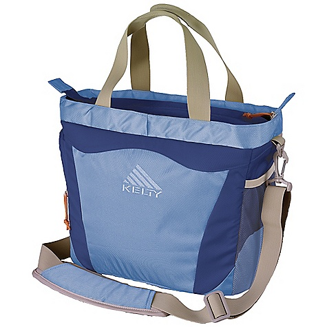 Entertainment Free Shipping. Kelty Tote Diaper Bag DECENT FEATURES of the Kelty Tote Diaper Bag Changing Pad Included Cooler pocket for bottle accessible from outside Carry/lift handles Organizer with ipod and coin pocket Organizer pocket for diapers and wipes Padded, removable shoulder strap Water bottle pocket sleeve on back panel secures bag to rolling luggage handle The SPECS Volume: 850 cubic inches / 13.9 liter Weight: 1 lb 4 oz / 0.6 kg Dimension (L x W x D): 14.5in. x 11.5in. x 7.5in. / 37 x 29 x 19 cm Fabric: Body: 420D Poly Ripple - $69.95