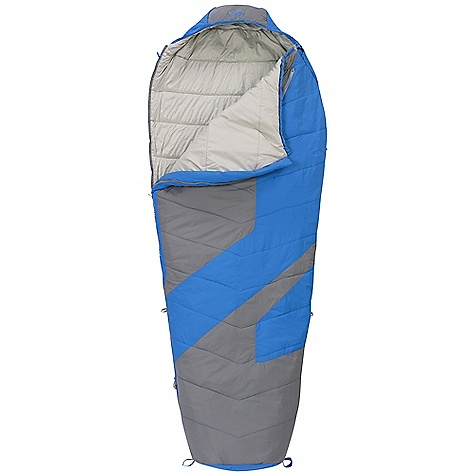 Camp and Hike On Sale. Free Shipping. Kelty Light Year XP 40 Degree Sleeping Bag DECENT FEATURES of the Kelty Light Year XP 40 Degree Sleeping Bag Quilt-through construction Efficient, form-fitting hood 58in. two-way locking zipper Zipper draft tube with anti-snag design Internal liner loops Sleeping pad security loops Hang loops for storage Micro Fat Man and Ribbon drawcords Micro captured cordlock Ground-level side seams and differential cut for maximum warmth Compression stuff sack included Storage sack included Zippered chest pocket The SPECS Temperature Rating: 40deg F / 4deg C Shape: Mummy Material: Shell: 40D Nylon Ripstop Insulation: Ecopet Soft Liner: 50D Polyester Micro Pongee The SPECS for Regular Fits To: 6' / 183 cm Length: 78in. / 198 cm Shoulder Girth: 62in. / 157 cm Fill Weight: 19 oz / 0.53 kg Total Weight: 2 lbs 4 oz / 1.01 kg Stuffed Diameter: 8in. / 20 cm Stuff Length: 13in. / 33 cm The SPECS for Long Fits To: 6' 6in. / 198 cm Length: 84in. / 213 cm Shoulder Girth: 64in. / 163 cm Fill Weight: 21 oz / 0.59 kg Total Weight: 2 lbs 9 oz / 1.15 kg Stuffed Diameter: 9in. / 23 cm Stuff Length: 14in. / 36 cm - $89.99