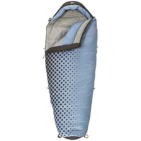 Camp and Hike Free Shipping. Kelty Women's Cosmic 20 Degree Sleeping Bag DECENT FEATURES of the Kelty Women's Cosmic 20 Degree Sleeping Bag Two-layer off-set quilt construction Top baffle collar Insulated hood baffle 58in. two-way locking zipper Zipper draft tube with anti-snag design Internal liner loops Sleeping pad security loops Hang loops for storage Ground-level side seams and differential cut for maximum warmth Stuff sack included Fat Man and Ribbon drawcords Captured cordlock The SPECS Temperature Rating: 20deg F / -7deg C Shape: Mummy Material: Shell: 50D Polyester Taffeta Insulation: CloudLoft Pro Liner: 50D Polyester Taffeta Fits To: 5' 6in. / 168 cm Length: 72in. / 182 cm Shoulder Girth: 58in. / 147 cm Fill Weight: 36 oz / 1.01 kg Total Weight: 3 lbs 5 oz / 1.93 kg Stuff Length: 17in. / 43 cm Stuff Diameter: 10in. / 25 cm - $94.95