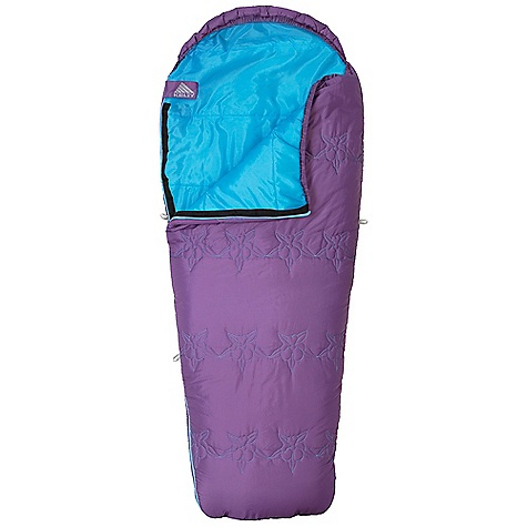 Camp and Hike Free Shipping. Kelty Little Dipper 40 Degree Junior Sleeping Bag DECENT FEATURES of the Kelty Little Dipper 40 Degree Junior Sleeping Bag Layered, offset, quilt construction Dual slider locking blanket zipper Zipper draft tube with anti-snag design Can be fully unzipped and opened flat for use as a blanket Sleeping pad security loop Pillow pocket Includes integrated compression storage sack Fun girl-boy specific quilting designs The SPECS Temperature Rating: 40deg / 4degC Shape: Semi-Rectangular Stuffed Diameter: 9in. / 23 cm Stuff Length: 19in. / 48 cm Fabric: Shell: 66D Polyester Taffeta Liner: 66D Polyester Taffeta Insulation: Cloud Loft Pro Fits To: 4' 4in. / 132 cm Length: 60in. / 152 cm Shoulder Girth: 50in. / 127 cm Fill Weight: 18 oz / 0.5 kg Total Weight: 2 lbs 4 oz / 1.01 kg - $59.95
