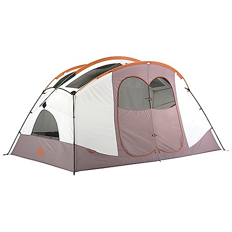 Camp and Hike Free Shipping. Kelty Parthenon 6 Person Tent DECENT FEATURES of the Kelty Parthenon 6 Person Tent Freestanding design Continous pole-sleeve construction Clip and pole sleeve construction Taped floor seams ArcEdge floor Mesh wall panels Internal storage pockets Removable room dividing wall Adjustable stakeouts Dual entry vestibule Taped seams Side-release buckle tent-fly connection Fly vents Noiseless zipper pulls Guyout points The SPECS Seasons: 3 Number of Doors: 2 Number of Vestibules: 1 Number of Poles: 5 Pole Type: DAC hybrid + DA17 poles Wall: 68D Polyster, Dye Free Floor: 68D Nylon, 1800 mm Fly: 75D Polyester 1800 mm Capacity: 6 person Minimum weight: 20 lbs 10 oz / 9.4 kg Packaged weight: 21 lbs 9 oz / 9.8 kg Floor Area: 101.5 square feet / 9.4 square meter Vestibule Area: 28 square feet / 2.6 square meter Dimension: 95 x 154 x 80in. / 241 x 391 x 203 cm Packed Dimension: 10 x 28in. / 25 x 71 cm OVERSIZE ITEM: We cannot ship this product by any expedited shipping method (3-Day, 2-Day or Next Day). Even if you pick that option, it will still go Ground Shipping. Sorry for being so mean. - $449.95