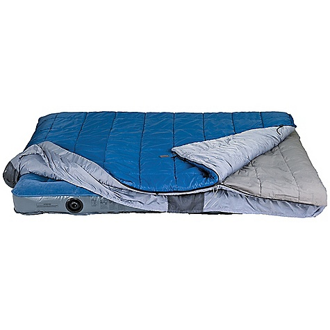 Camp and Hike Free Shipping. Kelty Satellite 30 Degree Sleeping Bag DECENT FEATURES of the Kelty Satellite 30 Degree Sleeping Bag Layered, offset, quilt construction Dual slider, locking blanket zipper Ground-level side seams and differential cut for maximum warmth FatMan and Ribbon drawcords Captured cordlock Integrated roll-up straps Side located storage pockets Fitted sheet-style bottom secures over a queen size airbed Top can be zipped off and used as a single rectangular sleeping bag The SPECS Temperature Rating: 30deg F / -1deg C Shape: Double Insulation: CloudLoft Shall: 50D Polyester Ripstop Liner: Polyester-Cotton and 75D Polyester Taffeta Fits To: 6' / 183 cm Length: 80in. / 203 cm Shoulder Girth: 136in. / 345 cm Fill Weight: 3 lbs 13 oz / 1.71 kg Total Weight: 7 lbs 10 oz / 3.42 kg Stuff Diameter: 14in. / 30 cm Stuff Length: 36in. / 76 cm - $139.95