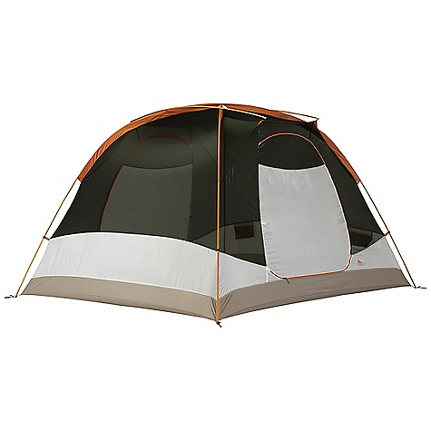 Camp and Hike Free Shipping. Kelty Trail Ridge 6 Person Tent DECENT FEATURES of the Kelty Trail Ridge 6 Person Tent Freestanding design Color Coded Clip Construction Taped floor seams Gear-loft loops ArcEdge Floor Mesh wall panels Internal storage pockets Noiseless zipper pulls Taped seams Side-release tent/fly connection Fly vents Noiseless zipper pulls Guyout points The SPECS Seasons: 3 Number of Doors: 2 Number of Vestibules: 2 Number of Poles: 3 Pole Type: DAC DA17 Wall: 68D Polyster, Dye Free Floor: 75D Polyster, 1800 mm Fly: 75D Polyester 1800 mm Capacity: 6 person Minimum Weight: 13 lbs 13 oz / 6.8 kg Packaged weight : 14 lbs 12 oz / 6.7 kg Floor Area: 80 Square Feet / 7.4 Square Meter Vestibule Area: 22 + 22 Square Feet / 2.0 + 2.0 Square Meter Dimension: 96 x 120 x 72in. / 244 x 305 x 183 cm Packed Dimension: 9 x 25in. / 23 x 64 cm - $339.95