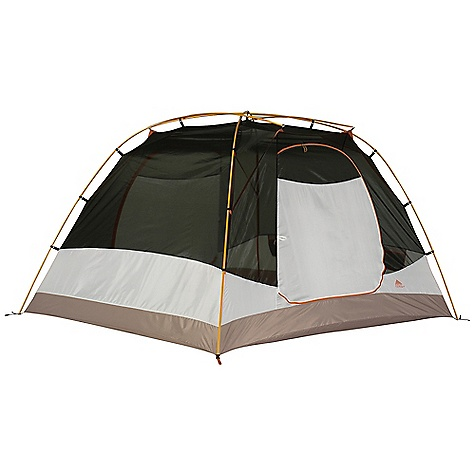 Camp and Hike The Kelty Trail Ridge 4 Person Tent. Looking for a spacious interior? The Trail Ridge incorporates a multi-diameter pole configuration that enables the walls to stay steep and aggressively arch toward the top for a much larger livable space. This ideal family tent also has two equal-sized vestibules flanking each end for easy entry/exit and plenty of storage. Features of the Kelty Trail Ridge 4 Person Tent Freestanding design Color Coded Clip Construction Taped floor seams Gear-loft loops ArcEdge Floor Mesh wall panels Internal storage pockets Noiseless zipper pulls Taped seams Side-release tent/fly connection Fly vents Noiseless zipper pulls Guyout points - $259.99