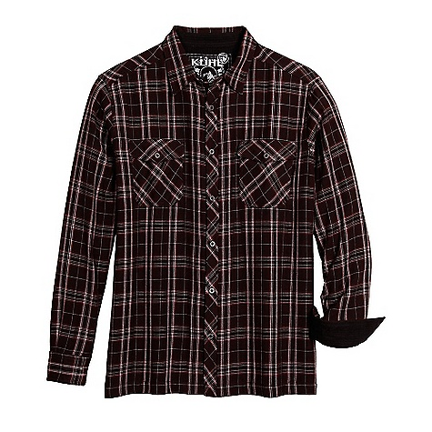 On Sale. Free Shipping. Kuhl Men's Eskape LS Shirt DECENT FEATURES of the Kuhl Men's Eskape Long Sleeve Shirt 2-ply, contrasting fabric Kuhl signature metal buttons Inside security pocket The SPECS Fabric: 100% Cotton Fabric Construction: 4.2 oz/sq. yd; 142 GSM - $43.99