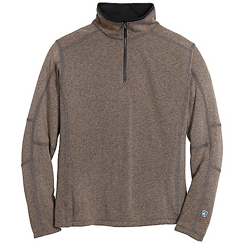 The Kuhl Men's Revel 1/4 Zip is a pullover fleece for daily life and weekend hikes. The Kashmira Performance fleece is a blend of acrylic, poly, and rayon, creating a super soft hand and smooth face. The Revel is all about the cozy due to the soft microsuede on the inside and looks good paired with jeans or your cargo hiking pants. As your body temperature rises, open the 1/4 length zipper to release extra heat. Features of the Kuhl Men's Revel 1/4 Zip Soft hand, fine gauge yarn with a smooth face Micro-soft interior collars for warmth and comfort Hand warming pockets with zippers - $84.95