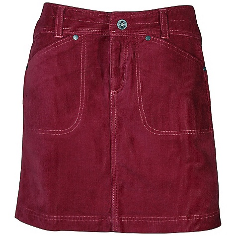 On Sale. Free Shipping. Kuhl Women's Kastra Kord Skirt DECENT FEATURES of the Kuhl Women's Kastra Kord Skirt Engineered waistband is wide and curved with a high back rise for ultimate fit and comfort 2 front pockets and 2 back pockets with secure zip closure The SPECS Center Back Length: 16.5, falls above the knee Fabric: 98% Cotton Corduroy, 2% Lycra Fabric Construction: 9.3 oz/sq. yd; 315 GSM - $44.99