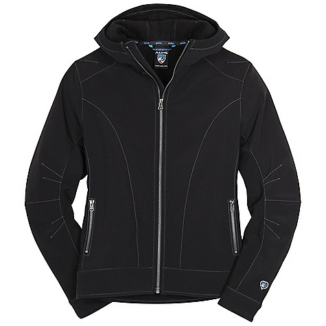 Free Shipping. Kuhl Women's Helena Jacket DECENT FEATURES of the Kuhl Women's Helena Jacket Smooth face with soft fleece back 2 hand warmer pockets with snap closures Front and back center, underarms, waistband and cuffs are durable softshell with stretch The SPECS Fabric: 96% Polyester 4% Spandex - $109.00