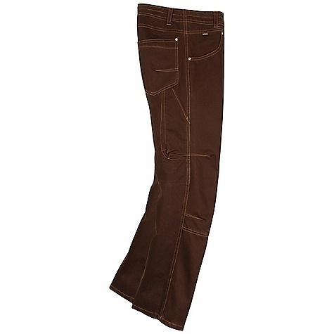 On Sale. Free Shipping. Kuhl Men's Gunslinger Pant DECENT FEATURES of the Kuhl Men's Gunslinger Pant Vintage patina dyed and river washed 3-D Cell phone pocket Gusseted crotch for freedom of movement Articulated knees The SPECS Fabric: 100% Dobby Cotton uber weight, Brushed for softness Fabric Construction: 10.3 oz/sq. yd; 350 GSM - $51.99