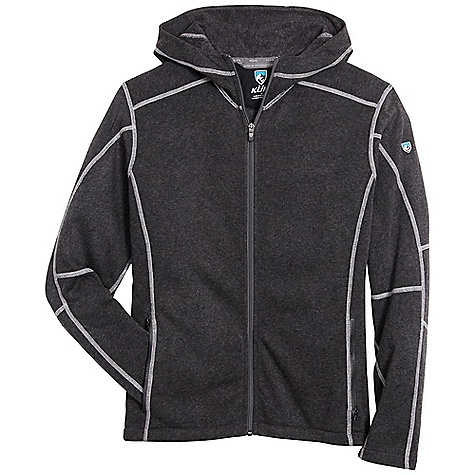 Free Shipping. Kuhl Men's Revel Hoody FEATURES of the Kuhl Men's Revel Hoody Soft hand, fine gauge yarn with a smooth face Micro-soft interior collars for warmth and komfort Hand warming pockets with zippers - $98.95