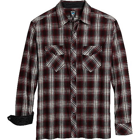 Free Shipping. Kuhl Men's HideOut LS Shirt DECENT FEATURES of the Kuhl Men's HideOut Long Sleeve Shirt Pearl snap buttons Pockets have rivets for style and strength Inside hidden security pocket Easy care, wash and wear The SPECS Fabric: 96% Cotton, 4% Viscose - $60.00