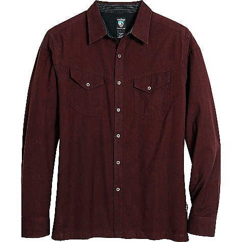 Free Shipping. Kuhl Men's Valkarie LS Shirt DECENT FEATURES of the Kuhl Men's Valkarie Long Sleeve Shirt Kuhl signature metal buttons Inside hidden security pocket The SPECS Fabric: 96% Cotton, 4% Viscose Fabric Construction: 4.6 oz/sq. yd; 155 GSM - $60.00