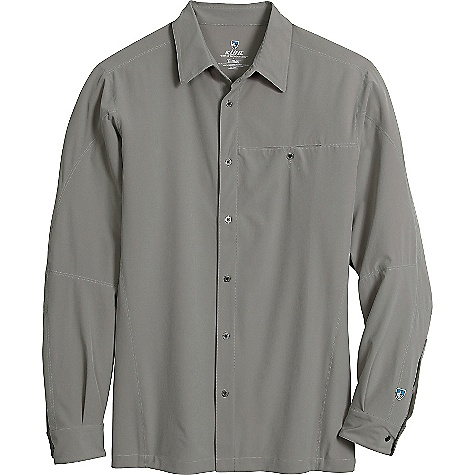 Free Shipping. Kuhl Men's Renegade LS Shirt DECENT FEATURES of the Kuhl Men's Renegade Long Sleeve Shirt Quick dry, moisture wicking, with 4-way stretch Kuhl signature metal buttons UPF 40 Left chest pocket Easy care, wash and wear The SPECS Fabric: 86% Polyester, 14% Spandex Fabric Construction: 4 oz/sq. yd; 137 GSM - $79.00