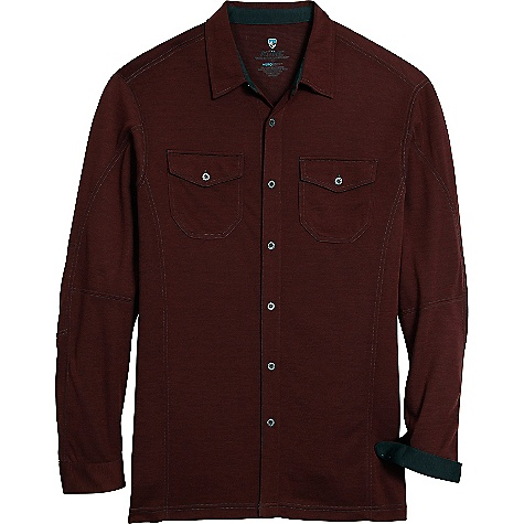 Free Shipping. Kuhl Men's Xover LS Shirt DECENT FEATURES of the Kuhl Men's Xover Long Sleeve Shirt Anti static finish, waffle texture back face UPF 30 Kuhl signature metal buttons 2 chest pockets The SPECS Fabric: 91% Polyester, 9% Tencel Fabric Construction: 5.3oz/sq. yd; 180 GSM - $69.00