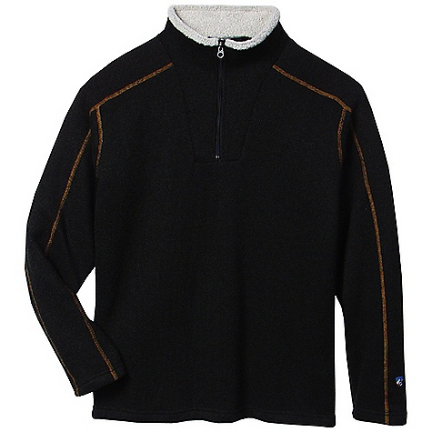 Features of the Kuhl Men's Europa 1/4 Zip Collar lined with shearling Flatlock stitching for low bulk seams Easy cAre, wash and wear - $78.95