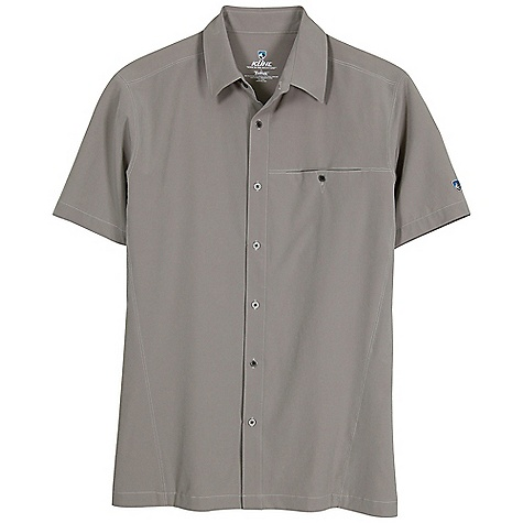 The Kuhl Men's Renegade SS Shirt is a button up shirt for on the boat, chilling at the beach, and having a good time with friends. The Tufflex; fabric is soft and stretchy and wicks moisture away from the skin for a full day of comfort. Don't fear the sun thanks to UPF 40. Now all you have to do is decide how much chest hair you'd like to show off. One button open, or two?Features of the Kuhl Men's Renegade Short Sleeve Shirt Quick dry, moisture wicking, with 4-way stretch UPF 40 Kuhl signature metal buttons Left chest pocket Versatile, comfortable and easy cAre - $69.95