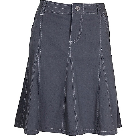 Free Shipping. Kuhl Women's Splash Skirt DECENT FEATURES of the Kuhl Women's Splash Skirt Stretch fabric for freedom of movement Four pockets Easy care, wash and wear The SPECS Length: 20in. Fabric: 68% Cotton, 29% Nylon, 3% Spandex Fabric Construction: 4.9 oz/sq. yd; 166 GSM - $60.00