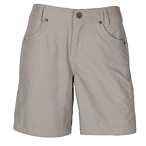 On Sale. Free Shipping. Kuhl Women's Bandita Short DECENT FEATURES of the Kuhl Women's Bandita Short Side stretch panels for komfort and movement Capri inseam: 18in., Roll-up short inseam: 11in. UPF 40 Easy care, wash and wear The SPECS Inseam: 6.5in. Fabric: Dry point 77% Nylon 23% Cotton Fabric Construction: 4 oz/sq. yd; 137 GSM - $48.71
