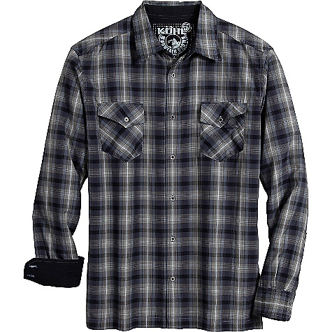 Free Shipping. Kuhl Men's Swindler LS Shirt DECENT FEATURES of the Kuhl Men's Swindler Long Sleeve Shirt Inside hidden security pocket Easy care, wash and wear The SPECS Fabric: 50% Cotton, 50% Poly Fabric Construction: 3.5oz/sq. yd; 120 GSM - $60.00