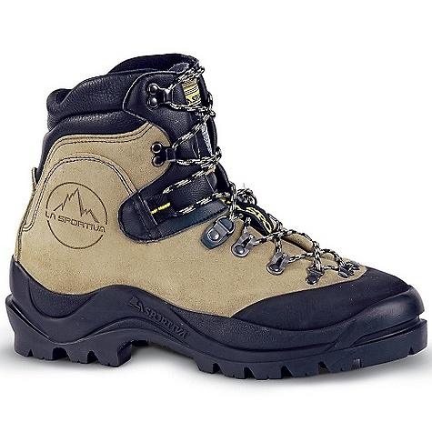 Free Shipping. La Sportiva Makalu Boot DECENT FEATURES of the La Sportiva Makalu Boot MtnFlex insole and full steel shank for automatic crampon compatibility Roller ball hardware and locking D-ring for independent fit Burly Rough out leather uppers for years of abuse The SPECS Weight: 34.57 oz / 980 g Construction: Board Lasted Last: Makalu The SPECS for Upper 3mm Idro-Perwanger Rough out Leather Vibram rubber rand removable EZ Flex tongue with Dry-Best lining The SPECS for Lining Dry-Best The SPECS for Insole 8mm MtnFlex with 1.5mm Dacromet-coated full steel shank The SPECS for Midsole SBR Aircushion The SPECS for Sole Skywalk MPE This product can only be shipped within the United States. Please don't hate us. - $304.95