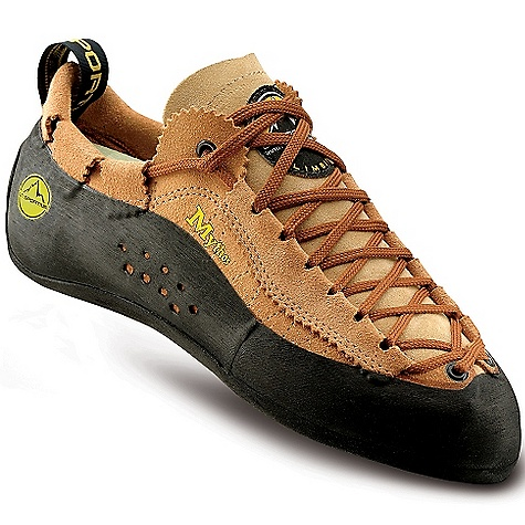 Climbing Free Shipping. La Sportiva Men's Mythos Shoe DECENT FEATURES of the La Sportiva Men's Mythos Shoe Patented lacing system provides a locked down fit Unlined upper stretches to fit every foot Full Vibram rubber rand coverage for sticky protection The SPECS Weight: 8.74 oz / 248 g Construction: Slip Lasted Last: RN 25 The SPECS for Upper Leather The SPECS for Lining Unlined (Dry-Best in tongue only) The SPECS for Midsole 1.1mm full-length LaspoFlexssss The SPECS for Sole 4mm Vibram XS Edge This product can only be shipped within the United States. Please don't hate us. - $139.95