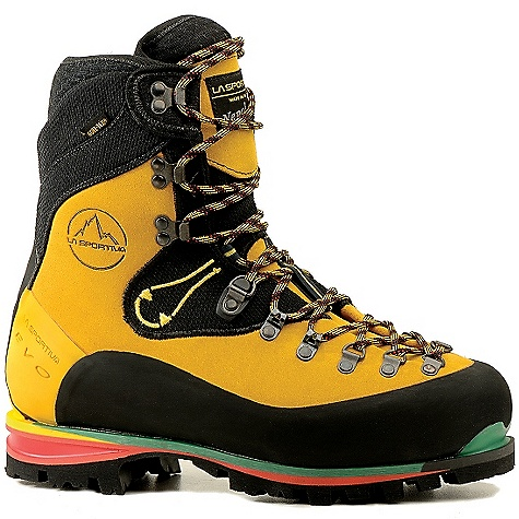 Free Shipping. La Sportiva Men's Nepal EVO GTX Boot DECENT FEATURES of the La Sportiva Men's Nepal EVO GTX Boot Innovative 3D Flex ankle Removable, adjustable, variable fit tongue provides the perfect dialed-in fit Impact Brake System outsole for excellent traction and cushioning Insulating Ibi-Thermo insole The SPECS Weight: 35.7 oz / 1012 g Construction: Board Lasted Last: Nepal The SPECS for Upper 3.2mm silicone impregnated Idro-Perwanger Rough out Leather with high-abrasion resistant fabric Vibram rubber rands The SPECS for Lining Gore-Tex Insulated Comfort Footwear The SPECS for Insole Insulating Ibi-Thermo 9mm The SPECS for Midsole 8-9mm TPU PU inserts SBR Aircushion The SPECS for Sole Vibram with Impact Brake System This product can only be shipped within the United States. Please don't hate us. - $509.95