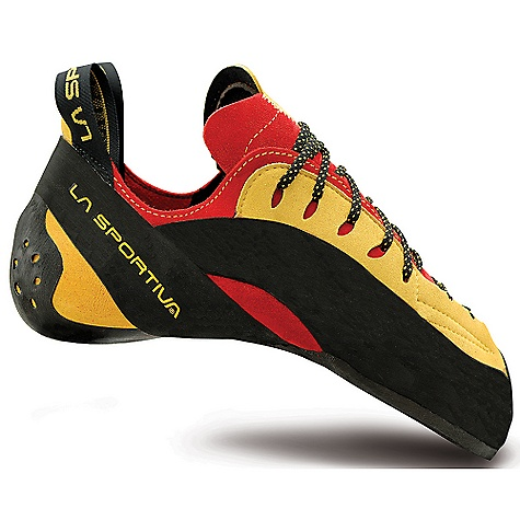 Climbing Free Shipping. La Sportiva Testarossa Shoe DECENT FEATURES of the La Sportiva Testarossa Shoe Innovative bi-lateral stretch technology designed to stretch in just the right spots 3D cupped Hytrel midsole Patented Figure 8 Slingshot rand The SPECS Weight: 7.44 oz / 211 g Construction: Slip Lasted Last: PD 85 The SPECS for Upper Leather Lorica The SPECS for Lining Pacific in the toe and heel, Dry-Best in the tongue The SPECS for Midsole P3 with 3D Hytrel Anatomical Insert (under toes) The SPECS for Sole 4mm Vibram XS Grip2 This product can only be shipped within the United States. Please don't hate us. - $174.95