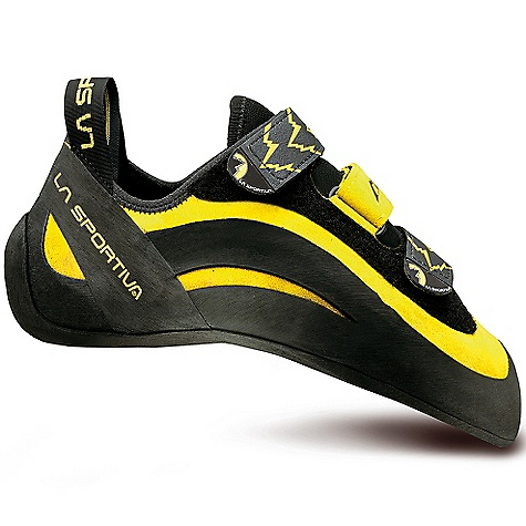 Climbing Award Winner - Climbing Magazine Editors ChoiceAward Winner - Rock-Ice B. I.G. Best In GearThe La Sportiva Men's Miura VS Shoe is a Climbing shoe for sport routes, gym Climbing, bouldering, as well as Technical face Climbing. The Miura VS is everything you love about the original Miura, with an easy on/easy off Velcro closure. The leather Upper stretches just enough to conform to your foot while the synthetic lining on the inside controls the amount of stretch. The bottom of the foot is unlined for better awAreness against the rock. The High asymmetry allows for better pocket Climbing and the XS Edge rubber allows for Technical edging. The durable and resistant rubber keeps them going strong. Velcro isn't just for toddlers. Features of the La Sportiva Men's Miura VS Shoe Easy to use hook and loop closure system for easy on and off convenience Slingshot rand and power hinge system gives you the ultimate edging power 4mm vibram XS Edge sticky rubber Outsole One-piece leather Upper has a synthetic Dentex lining to control stretch Unlined under the foot to allow for excellent sensitivity on micro edges and smears Built on the P3? platform which maintains the downturned shape of the shoe making it excellent for steep overhangs Slip lasted construction gives these more sensitivity, allowing you to focus your foot strength on the smallest of edges - $175.00