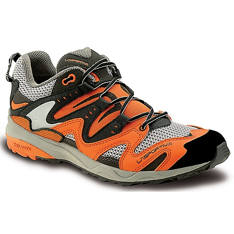 Fitness On Sale. Free Shipping. La Sportiva Men's Fireblade Shoe DECENT FEATURES of the La Sportiva Men's Fireblade Shoe Stretch mesh tongue guard keeps dirt, pebbles and trail debris out Triple-density midsole with TrailShock for pronation control and stability Roomy ventilated toebox The SPECS Weight: 12.82 oz / 359 g Upper: AirMesh / Synthetic Leather / Rubber toe-cap Last: Fit: Racing Lining: Mesh (heel only) Midsole: Triple-density MEMIex / TrailShock / High-tensile composite Rock Guard Sole: FriXion AT / Racing H (mm): Heel: 26mm / Toe: 16mm / H: 10mm Cushioning: Midsole: 41A / Pronation Control: 45A / Trail Shock: 36A This product can only be shipped within the United States. Please don't hate us. - $75.99