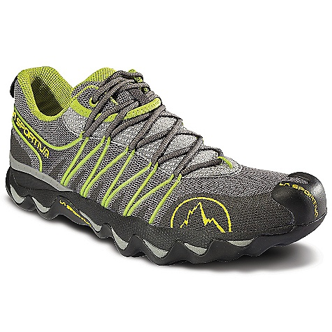 Fitness On Sale. Free Shipping. La Sportiva Men's Quantum DECENT FEATURES of the La Sportiva Men's Quantum A slip lasted upper built on an ergonomic last provides a svelte, form fitting, glove-like fit that is super responsive Ergonomically sculpted midsole with Morpho Dynamic technology makes the trail feel as though you are running on a smooth even surface PU and EVA midsole work in tandem to absorb the trail features and provide the plushest ride on the market Soft PU deforms upon impact to dissipate impact forces before they are further absorbed in the EVA layer The SPECS Weight: 12.85 oz / 365 g Last: Fit: Dynamic Lining: Air-Mesh Sole: Morpho Dynamic Frixion AT H (mm): Heel: 31mm / Toe: 20mm / H: 11mm Cushioning: Midsole: PU:30A / EVA: 45A The SPECS for Upper Air-Mesh TPU UreTech 4-way stretch dynamic scree guard The SPECS for Midsole Morpho Dynamic Polyether PU Injection molded EVA TPU heel counter This product can only be shipped within the United States. Please don't hate us. - $99.99