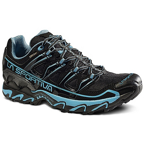 On Sale. Free Shipping. La Sportiva Women's Raptor Shoe DECENT FEATURES of the La Sportiva Women's Raptor Shoe Super sticky Frixion XF rubber outsole for excellent traction on variable terrain Protective upper to shield feet from trail obstacles TPU lacing harness for a great fit TPU heel stabilizer provides stability and protection The SPECS Weight: 9.82 oz / 278 g Last: Fit: Tempo 2 / Medium/Wide Lining: Mesh (back half and tongue only) Midsole: Memlex / Nylon molded Flex Transfer shank Sole: Frixion XF / Impact Brake System X-Axis H (mm): Heel: 28mm / Toe: 16mm / H: 12mm Cushioning: Midsole: 45A The SPECS for Upper Air-Mesh Synthetic Leather TPU Lacing Harness TPU Transkinetic Heel Stabilizer This product can only be shipped within the United States. Please don't hate us. - $79.99