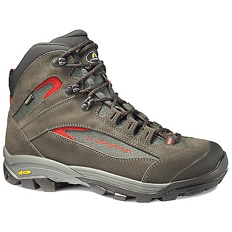 Camp and Hike Free Shipping. La Sportiva Men's Garnet GTX Boot DECENT FEATURES of the La Sportiva Men's Garnet GTX Boot Differentiated lacing zones for independent fit Protective rubber toe cap for extra toe protection Beautifully crafted waterproof breathable hiking boot for backpacking and day hikes The SPECS Weight: 21.4 oz / 600 g Construction: Board Lasted Last: P Fit-3 The SPECS for Upper Idro-Perwanger leather Waterprood Cordura Pro Dupont Vibram rubber rand The SPECS for Lining Gore-Tex Extended Comfort The SPECS for Insole 4mm tapered Polypropylene 3mm soft EVA The SPECS for Midsole EVA The SPECS for Sole Vibram Grivola This product can only be shipped within the United States. Please don't hate us. - $199.95